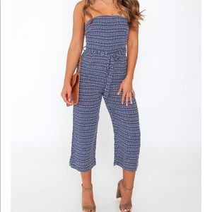 Blue oohlaluxe jumpsuit